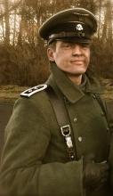 """Hauptsturmführer Rothe in """"old gun"""", (2014)"""